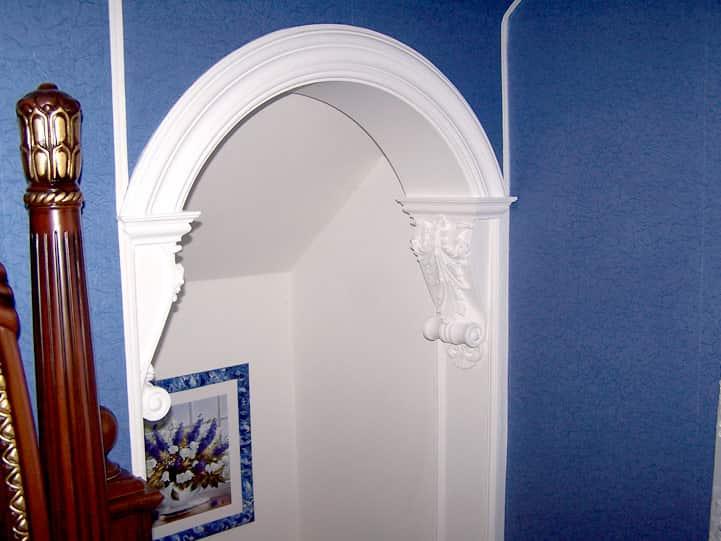 тебе арки с лепниной на кухне можно общаться любые